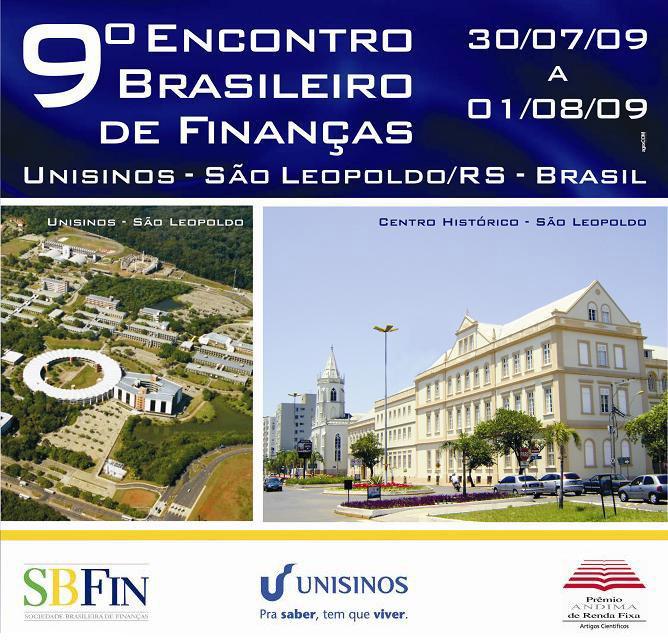 Programação 9º Encontro Brasileiro de Finanças